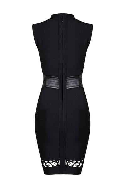 Hollow Out Lace-Up Sexy Bandage Dress - CHICIDA