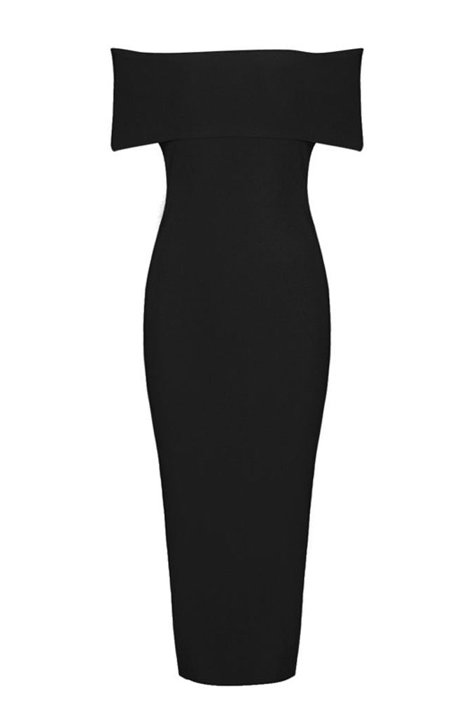 Off The Shoulder Legs Split Bandage Dresses - CHICIDA