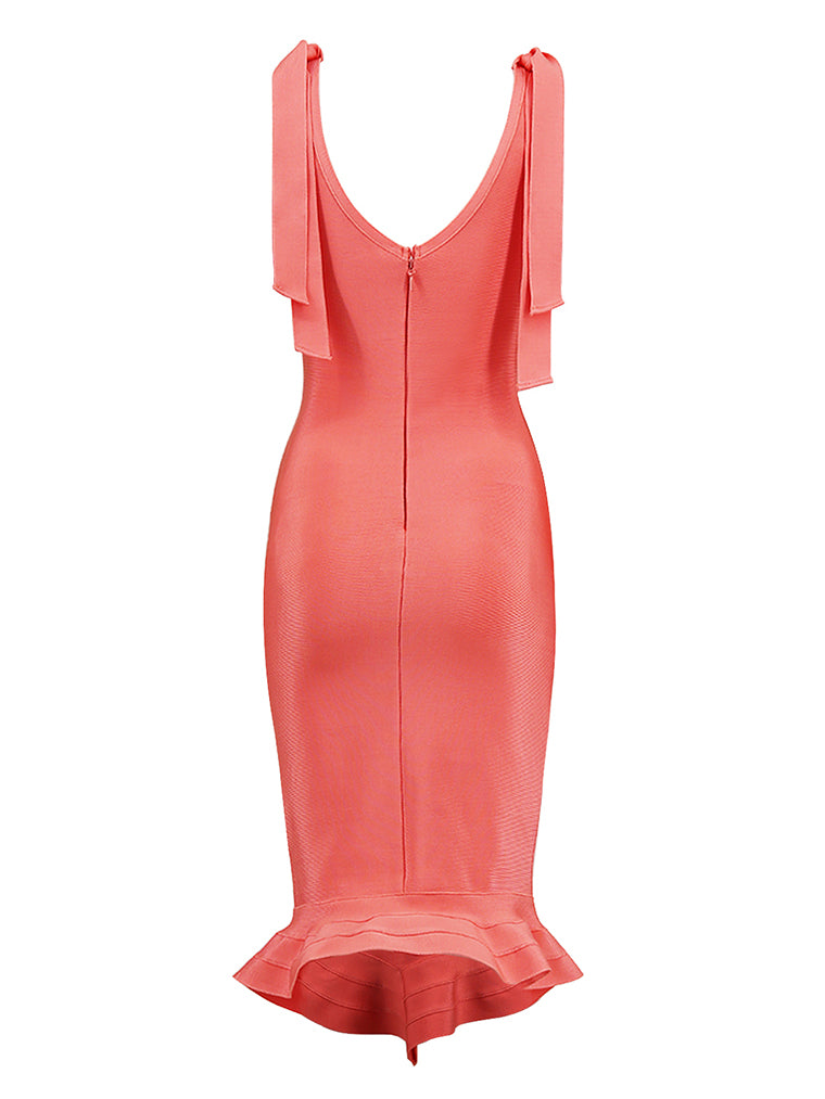 Pink Mermaid Bandage Dress - CHICIDA