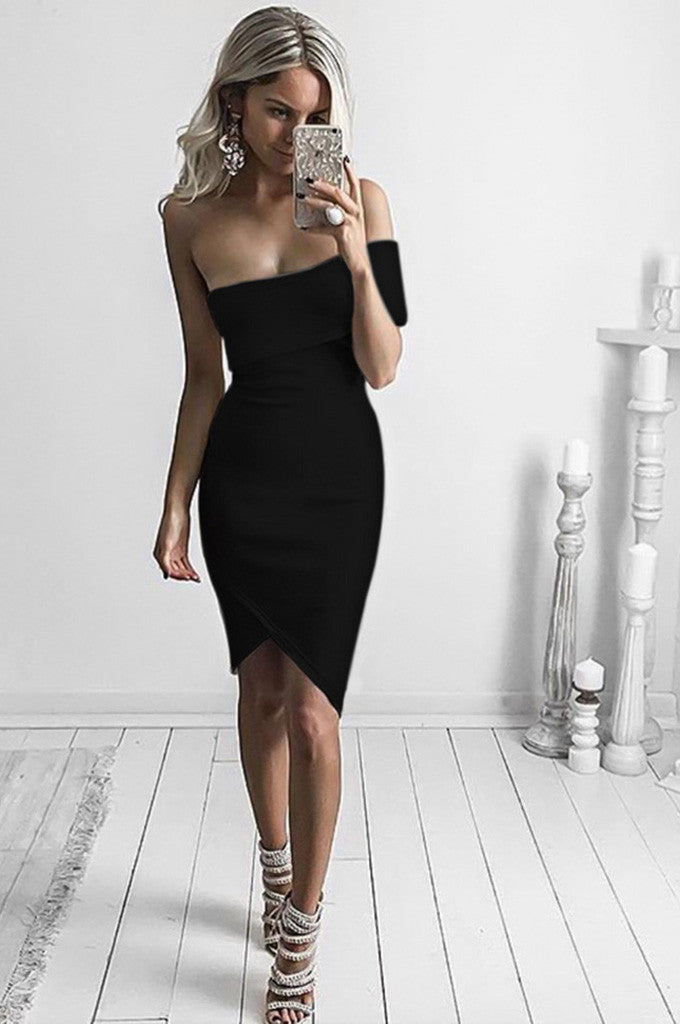 Cut Out One Shoulder Sexy Party Bandage Dress Chicida