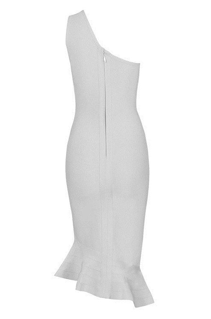 Sheath One Shoulder Sexy Wedding Fishtail Bandage Dress - CHICIDA