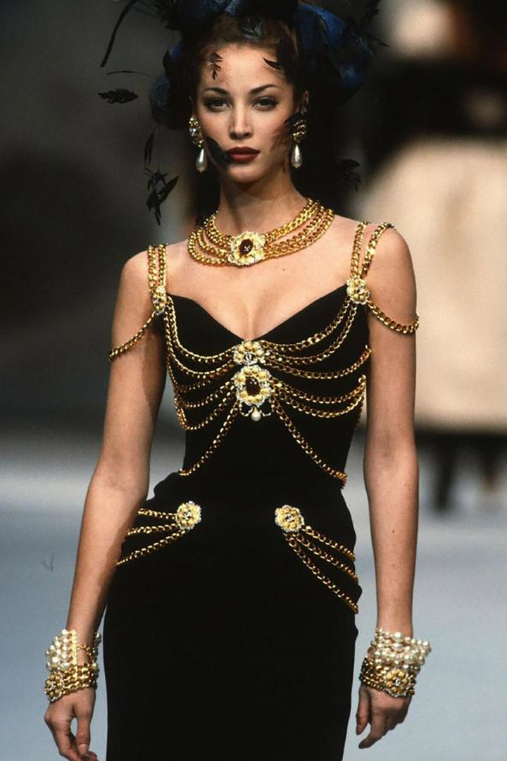 Spring Haute Couture Chain-Embellished Dress - CHICIDA