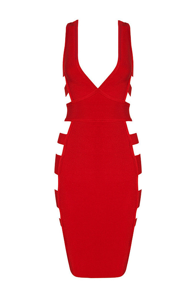 Deep V Cut Out Sexy Club Bandage  Dress - CHICIDA