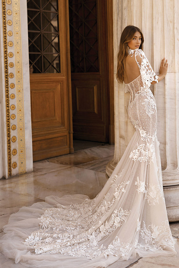 Athens White Lace Maxi Wedding Dresses - CHICIDA