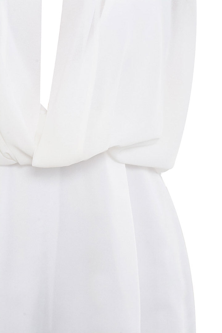 White Chiffon Playsuit - CHICIDA