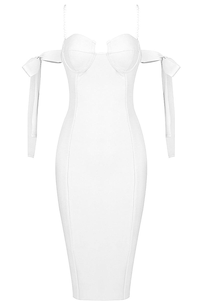 Beaded Strappy Bodycon Bandage Dress