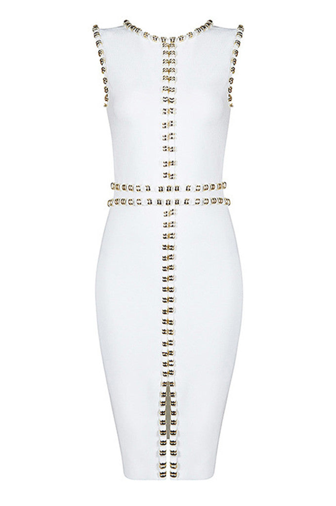 Splitting Beading Sleeveless Bandage Party Dresses - CHICIDA