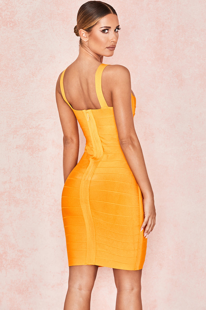 Mango Strappy Bandage Mini Dress - CHICIDA