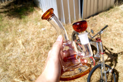 Orange Glass Cone Piece 18mm - Theheadquarters.com.au