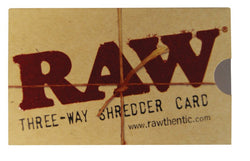 RAW SHREDDER CARD - Theheadquarters.com.au