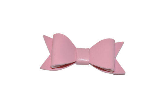 Light Pink Leather Bow
