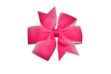 Hot Pink Ombre Pinwheel Hair Bow Clip - Dream Lily Designs