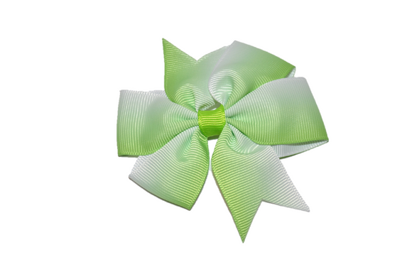 Light Green Ombre Pinwheel Hair Bow Clip - Dream Lily Designs