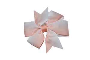 Light Peach Ombre Pinwheel Hair Bow Clip - Dream Lily Designs