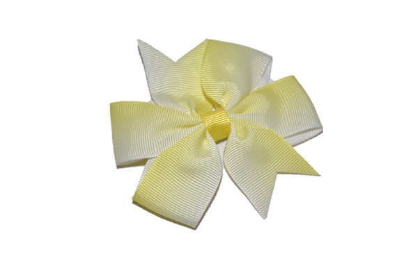 Yellow Ombre Pinwheel Hair Bow Clip - Dream Lily Designs