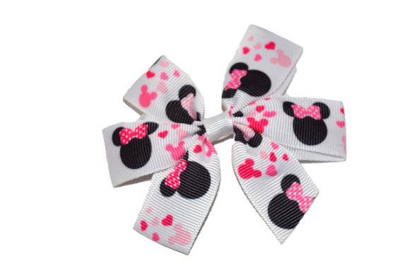 Minnie Mouse Pinwheel Hair Bow Clip - Dream Lily Designs