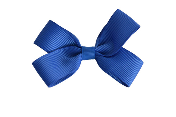 3 Inch Double Loop Hair Bow Blue - Dream Lily Designs