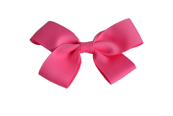3 Inch Double Loop Hair Bow Bubblegum Pink - Dream Lily Designs
