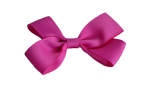 3 Inch Double Loop Hair Bow Fuschia Pink - Dream Lily Designs
