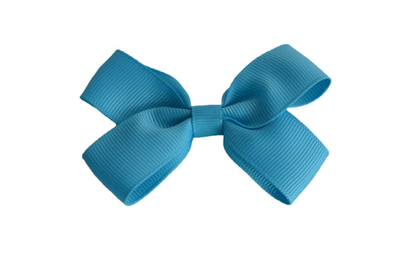 3 Inch Double Loop Hair Bow Bright Blue - Dream Lily Designs