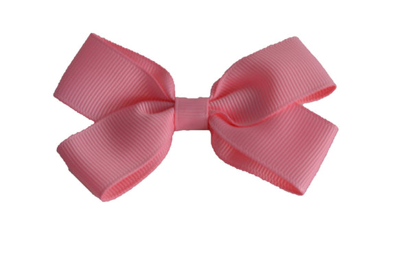 3 Inch Double Loop Hair Bow Baby Pink - Dream Lily Designs
