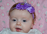 Light Purple and Pink Fancy Crystal Flower Headband - Dream Lily Designs