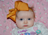 6 Inch Boutique Bow Headband - Light Brown - Dream Lily Designs