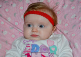 "Red .5"" Lace Elastic Headband"