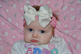 "Light Pink 1.5"" Crochet Headband - Dream Lily Designs"