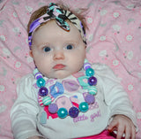 "Teal Pink ""Bubblegum Bead"" Necklace - Dream Lily Designs"