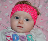 "Hot Pink 2.5"" Crochet Headband - Dream Lily Designs"