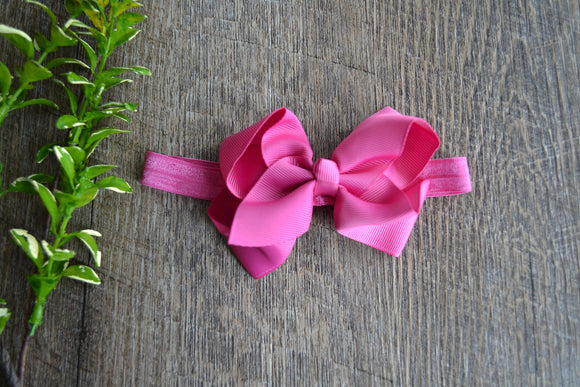 4 Inch Boutique Bow Headband - Fuschia Purple - Dream Lily Designs