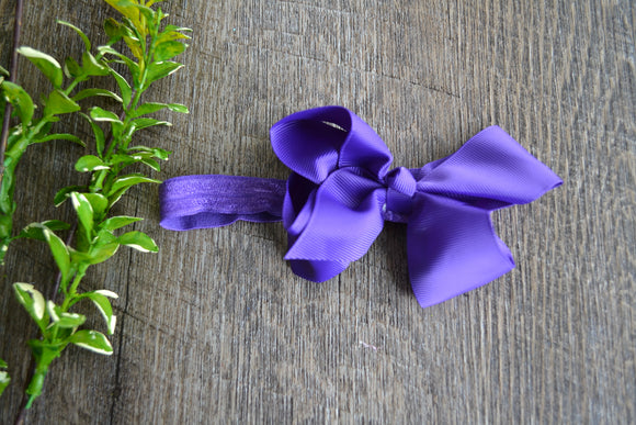 4 Inch Boutique Bow Headband - Periwinkle Blue - Dream Lily Designs