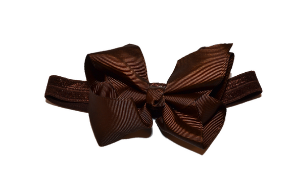 4 Inch Boutique Bow Headband - Dark Brown - Dream Lily Designs