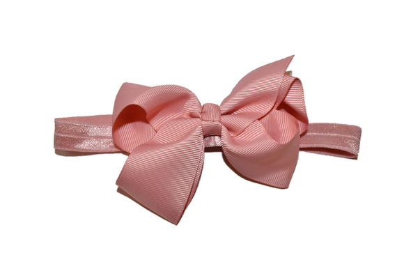 4 Inch Boutique Bow Headband - Rose Pink - Dream Lily Designs
