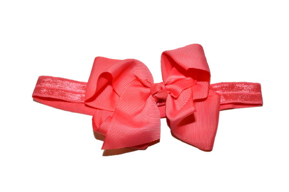 4 Inch Boutique Bow Headband - Dark Coral - Dream Lily Designs