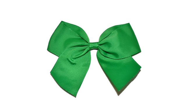 4 inch Cheer Bow Clip - Green