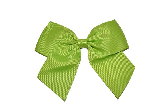 4 inch Cheer Bow Clip - Lime Green