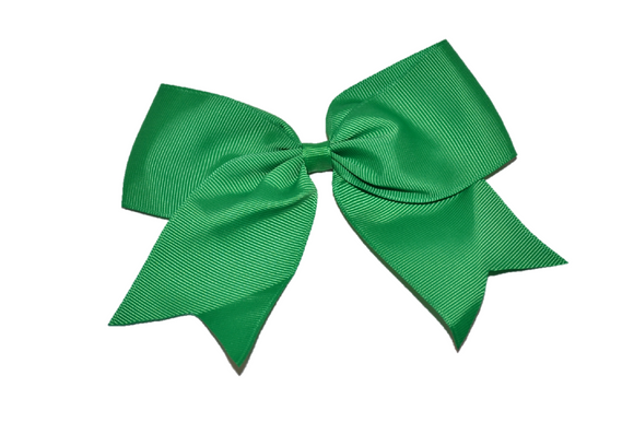 5 inch Cheer Bow Clip - Green