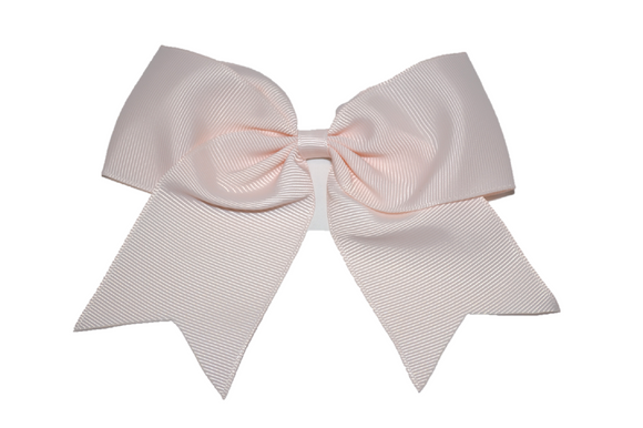 5 inch Cheer Bow Clip - Light Peach - Dream Lily Designs