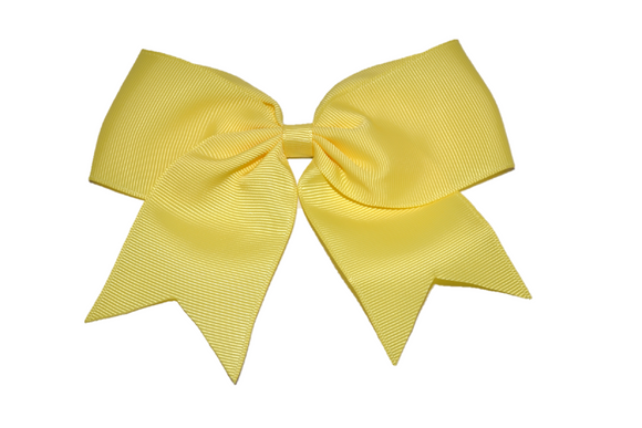 5 inch Cheer Bow Clip - Yellow - Dream Lily Designs