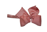 6 Inch Boutique Bow Headband - Dusty Rose - Dream Lily Designs