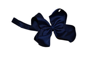 6 Inch Boutique Bow Headband - Navy Blue - Dream Lily Designs
