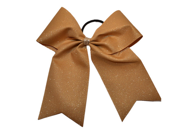 Glitter Sparkle Cheer Bow - Gold - Dream Lily Designs