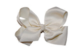 Cream 6 Inch Boutique Hair Bow - Dream Lily Designs