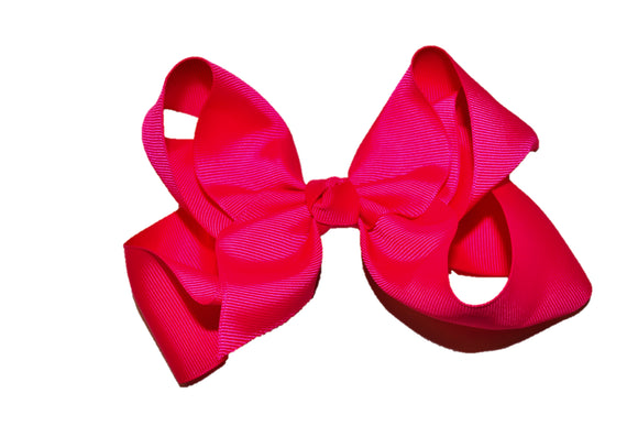 Hot Pink 6 Inch Boutique Hair Bow