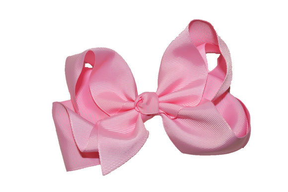 Light Pink 6 Inch Boutique Hair Bow