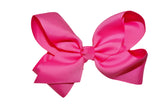 Bubblegum Pink 6 Inch Boutique Hair Bow - Dream Lily Designs