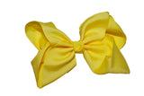 Bright Yellow 6 Inch Boutique Hair Bow - Dream Lily Designs