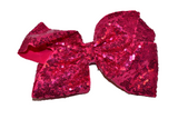 Sequin Boutique Bow 8 Inches - Magenta Hot Pink - Dream Lily Designs